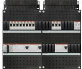 ABB HAF Installatiekast 330x440mm, 11-groepen 3-fase, 3xALS, HS 40A 4-polig, met beltrafo