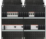 ABB HAF Installatiekast 330x440mm, 9-groepen 3-fase, 3xALS, HS 40A 4-polig