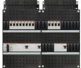 ABB HAF Installatiekast 330x440mm, 12-groepen 3-fase, 3xALS, HS 40A 4-polig