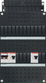 ABB HAF BKH basis installatiekast (leeg) 1 fase voorzien van 2x ALS 30mA achter HS 2polig 40A