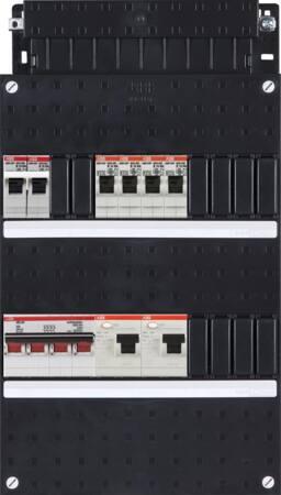 ABB HAF Installatiekast 4x achter 2x 30mA + F + HS, 3-fasen