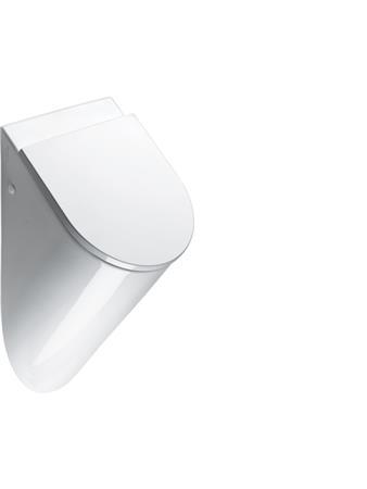 Catalano Muse keramisch urinoir. Afmeting: 600x310x390mm. Inlaat: achter, uitlaat: verdekt, gecoat, wit