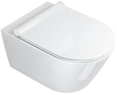 Catalano Zero 55 New Flush keramisch wandcloset, diepspoel zonder spoelrand. Kleur wit.