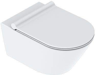 Catalano Zero wandhangend toilet 55x35cm wit mat + Newflush