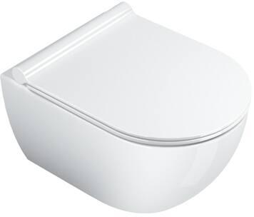 Catalano, Toilet wand, Sfera, WC, New Flush, wand, horizontale vloeruitlat (omvormbaar tot vloeruitlaat), 50X35 cm, glans wit.