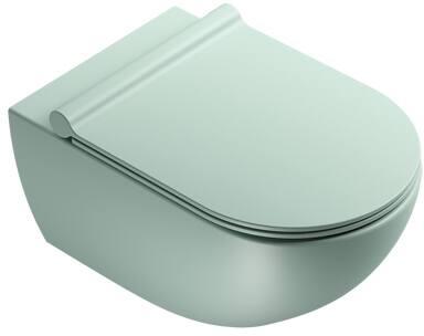 Catalano Sfera New Flush wandcloset 4,5 liter, 35 x 55 cm, zonder bevestigingset, mat groen