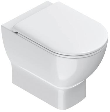 Catalano, Toilet vloer, Sfera, WC, wand, 54X35 cm, glans wit.