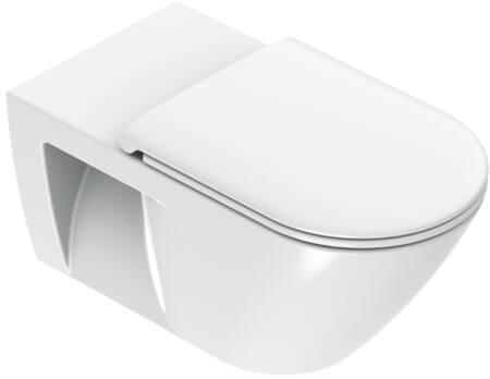 Catalano, Toilet wand, Sfera Comfort, WC, wand, zonder rand, 70x36 cm, glans wit.