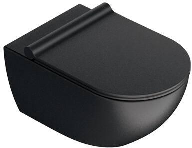 Catalano Sfera 54x35 newflush wand toilet, kleur mat zwart