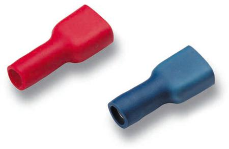 Cimco geïsoleerde vlaksteekkabelschoen voor kabel van 1,5 tot 2,5mm, schoen 2,3mm x 21mm, klem 6,3x0,8mm, blauw, messing