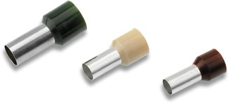 Cimco adereindhuls geïsoleerd, voor kabel 0,34mm2 x 6mm, huls 2,5/1,2 x 10mm, steekmaat 2 x 0,9mm, koper vertind, roze