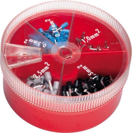Cimco adereindhuls assortiment, 100 stuks assorti 4-16 MM2 in praktische strooidoos, kleurcode DIN