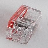 Conex transparante insteeklasklem, 0,75 - 2,5 mm2, 2-voudig, striplengte 12mm