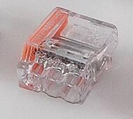 Conex transparante insteeklasklem, 0,75 - 2,5 mm2, 3-voudig, striplengte 12mm
