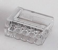 Conex transparante insteeklasklem, 0,75 - 2,5 mm2, 5-voudig, striplengte 12mm
