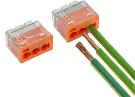 Conex transparante multilasklem 3-voudig CH2223, geschikt voor massief, flexibele en geslagen draad, 05 - 4 mm2, 32A - 450V