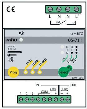 Dimmer voor systemen met 1-10v stroomsturing