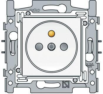 Niko Original White inbouw 1-voudige wcd Aardingspen, centraalplaat, schroefklem, RAL9010