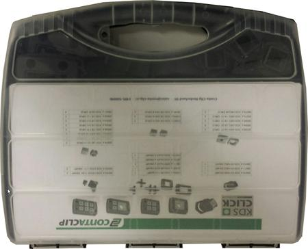Conta-Clip KDS-click Servicebox, diverse kabeldoorvoersystemen en afsluitblokken, grijs