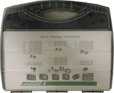 Conta-Clip KDS-click Servicebox, diverse kabeldoorvoersystemen en afsluitblokken, zwart