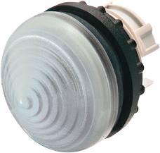 Eaton RMQ-Titan M22 frontelement, signaallamp, hoge conische lens, kleur wit, front rond, 22,5mm inbouw, IP67, IP69K