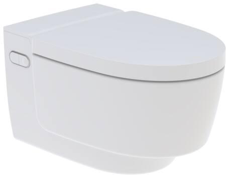 Geberit Aquaclean Mera Comfort douchewc compleet met keramisch wandcloset. Kleur wit.
