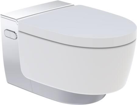 Geberit Aquaclean Mera Comfort douchewc compleet met keramisch wandcloset. Kleur wit/chroom