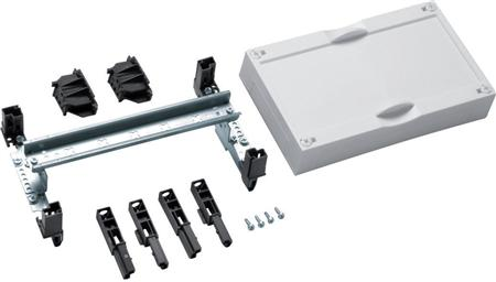 Hager, Gesloten din-rail unit horizontaal ledig 150x250mm