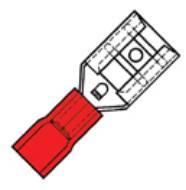 Klemko geïsoleerde vlakstekerhuls 2,8x0,8mm voor draad 0,5-1,5 mm²