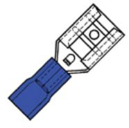 Klemko geïsoleerde vlakstekerhuls 6,3x0,8mm voor draad 1,5-2,5 mm²