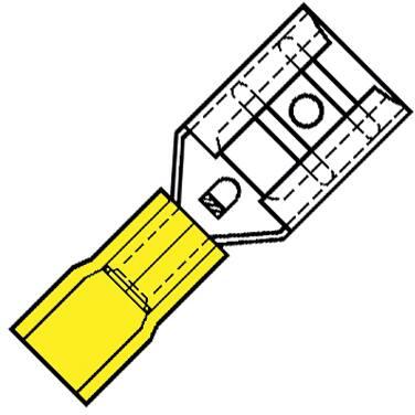 Geïsoleerde Vlakstekerhuls 6,3x0,8mm voor draad 4,0-6,0 mm2