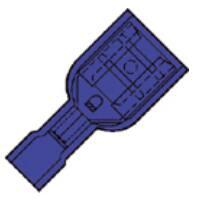 Klemko volledig geïsoleerde vlakstekerhuls 6,3x0,8mm voor draad 1,5-2,5 mm²