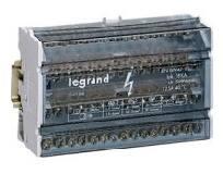 Stroomverdeler Lexic modulair 4P 125A 8modules bevestiging op DIN-rail of op plaat met 2 schroeven