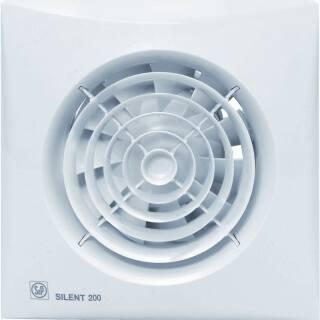 Soler & Palau muurventilator, 177m3/h, 230V, 16W, aansluitklem, instelbaar, met klep, lichtnet, hxb 180x180mm, inbouw 80mm, wit IP45