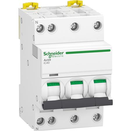 Schneider Electric Acti 9 Installatieautomaat A9P52706, IC40 3P+N C6