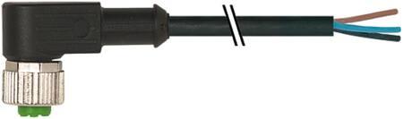 Murr M12 female connector haaks met kabel PUR-OB 5x0,34 zwart UL, CSA 10m