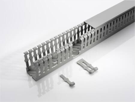 Rehau bedradingskoker, hxbxl 100x30x2000mm, doorsnede 2500mm2, bodemperforatie, steengrijs RAL7030