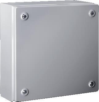 Rittal, KL Klemmenkast, 400x200x80 mm BxHxD, plaatstaal, RAL 7035, zonder wartelplaten, zonder montageplaat