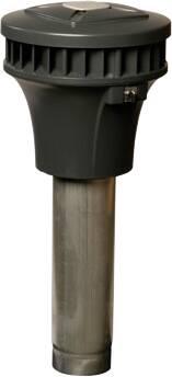 Zehnder RPM 19/24 P pijpventilator, wisselstroom, elek. regelbaar, h 761mm, voetmaat 130mm, kanaaldia. 125mm, perilex stekker