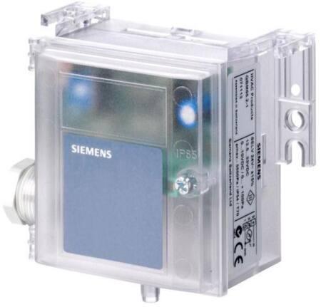 Siemens HVAC. Drukverschilopnemer. Geschikt voor lucht en niet-agressieve gassen