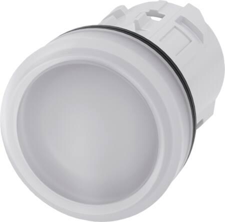 SIEMENS Signaalelement, kunststof, gladde lens, wit