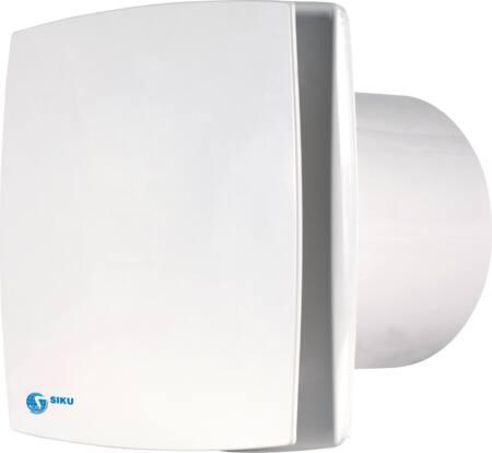 Solar Plus muurventilator, 88m3/h, 230V, 14W, lichtnet, hxb 150x150mm, wit IPX4