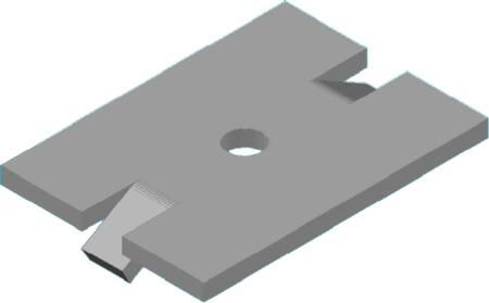 Solarstell Aluminium klemplaat