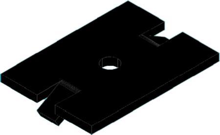 Solarstell Aluminium klemplaat, zwart geanodiseerd