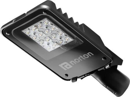 Norton KFA straatverlichting, led, 4000lm, 35W/4000K, CRI70-79, IK10, aluminium, antraciet, hxbxl 95x234x454mm IP66