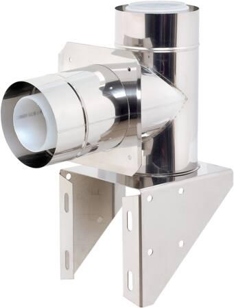 Ubbink Rolux buitenwandsysteem verlengstuk (155-242mm), stoel conc diameter80/125 PP