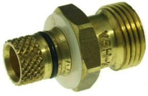 VSH Multicon K 3220 fitting messing, rechte koppeling, puntstuk 16mm x 3/8