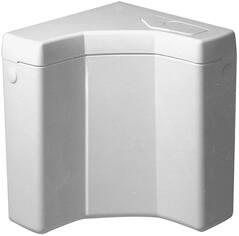 Wisa Opbouwspoelreservoir, W444, hoek, laaghangend, drukknop, anti-condensisolatie, kunststof, 342 x 313 x 289mm (HxBxD), wit