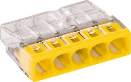 Wago lasklem 5-voud tranpsparant geel