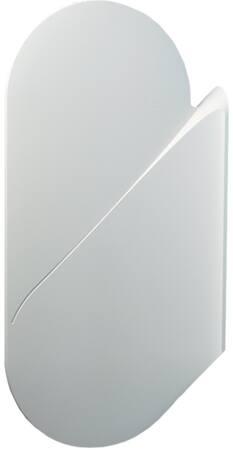 Wisa Schaamschot/scheidingswand voor uninoir, 100mm dikte, kunststof, 418 x 824mm (DxH), wit
